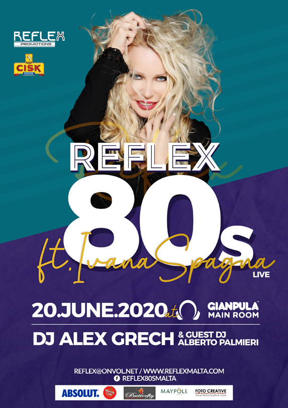 Reflex 80's Party ft. Ivana Spagna Live - 20th June 2020 at Gianpula
