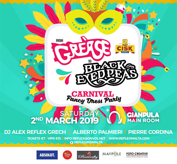From Grease to Black Eyed Peas - Saturday 2nd March at Gianpula